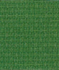 A close up on the texture of fourteen count aida fabric, the holes are not clearly visible. The colour is medium green