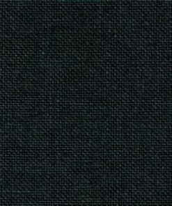 A close up on the specialised, cross stitching linen fabric in black