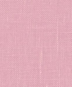 A close up on the specialised, cross stitching linen fabric in lilac, a medium dusty rose colour