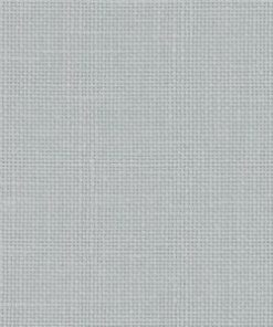 A close up on the specialised, cross stitching linen fabric in pearl grey linen which is a light blue grey