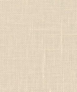 A close up on the specialised, cross stitching linen fabric in platinum linen which is a light pinkish beige