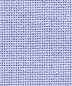 A close up on wedgewood blue lugana cross stitching fabric. The cloth is evenweave so the holes are clearly visible