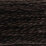 Colour 3371 of DMC cross stitch floss which is Black Brown