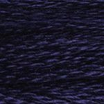 Colour 823 of DMC cross stitch floss which is Navy Blue Dark