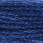 Colour 824 of DMC cross stitch floss which is Blue Very Dark