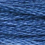 Colour 825 of DMC cross stitch floss which is Blue Dark