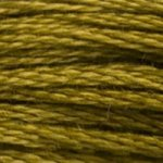Colour 831 of DMC cross stitch floss which is Golden Olive Medium