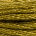 Colour 832 of DMC cross stitch floss which is Golden Olive