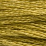 Colour 833 of DMC cross stitch floss which is Golden Olive Light