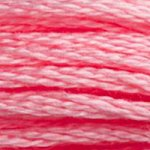 Colour 957 of DMC cross stitch floss which is Geranium Pale
