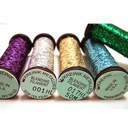 A few of the many colours of Kreinik blending filaments