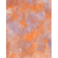 11 count hand-dyed aida piece in shades of orange and purple