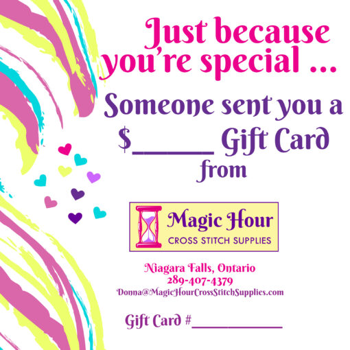 A gift card to remember someone special, just because they are important in someone's life