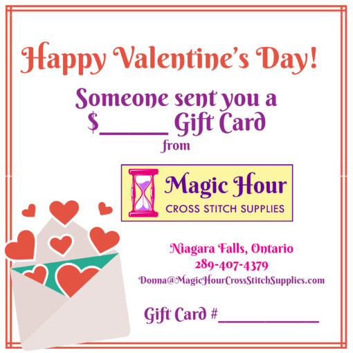 A gift card for Valentine's Day, featuring an envelope with hearts floating out of it